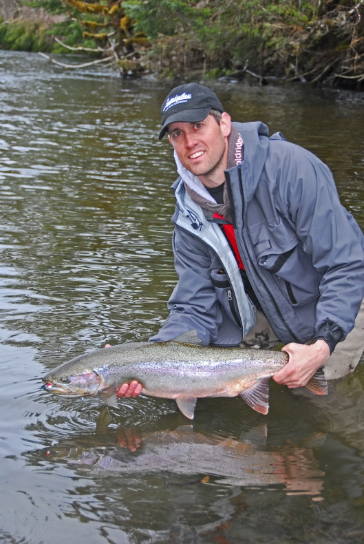 Steelhead caught using Aerojig #63